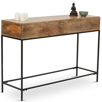 Modish Console Table In Brown Wood Finish
