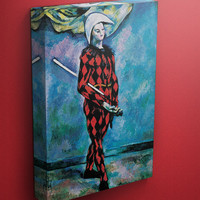 Harlequin by Cezanne on Mirror Wrapped Canvas