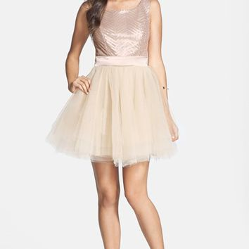 Junior Women's Trixxi Sequin Ballerina Dress