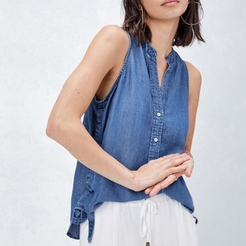 Anabeth Denim Sleeveless Top