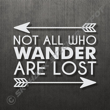 "Not All Who Wander Are Lost Sticker Decal MacBook Pro Air 13"" 15"" 17"" Keyboard Keypad Mousepad Trackpad Laptop Vintage Inspirational Text"