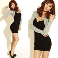 Krazy Sexy Club Cocktail Party Evening Dress #1113 Black & Gray