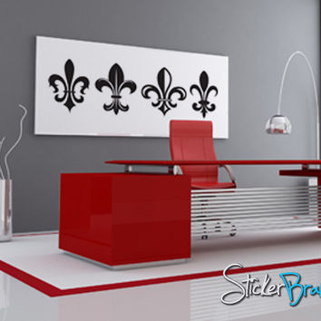 Vinyl Wall Decal Sticker French Fleur De Lys #KTudor110