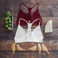 Xena Bralette in Burgundy