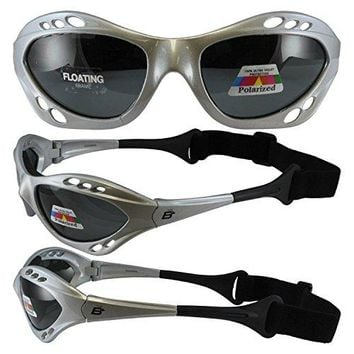Silver Polarized Floating Water Sport Sunglass Goggles
