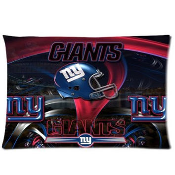 New York Giants 20X30 Custom Soft Flannel Pillow Case Cover