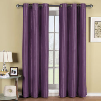 Soho Purple Grommet Blackout Window Curtain Panel
