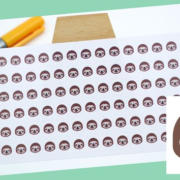 SLOTH FACE || animal stickers || small colored icon | for your planner or bullet journal