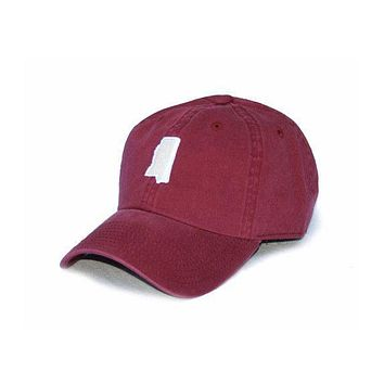 MS Starkville Gameday Hat in Maroon by State Traditions
