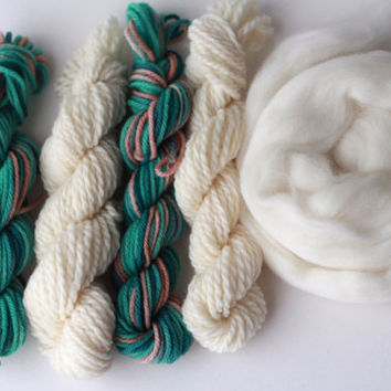 Weaver's Yarn Pack 003 - Texture Mini Skein Pack for Tapestry Weaving - Over 75g of Fiber!