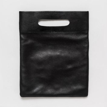 BAGGU Leather LPB Clutch Black