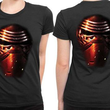 DCCKG72 Star Wars The Force Awakens Kylo Ren Mask Effect 2 Sided Womens T Shirt
