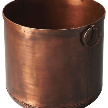 Erie Transitional Round Planter Copper