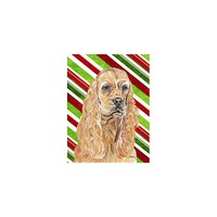 Caroline's Treasures Cocker Spaniel Candy Cane Christmas House Flag