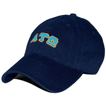 Alpha Tau Omega Needlepoint Hat in Navy by Smathers & Branson