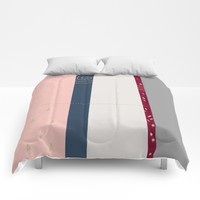 a few golden dots Comforters by Ia Po