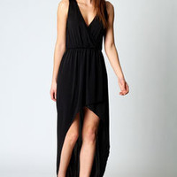 Anya Slinky Sleeveless Dip Hem Dress