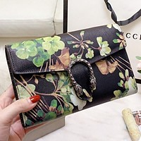 GUCCI & Mickey Mouse New fashion more letter floral mouse strawberry print shopping leisure shoulder bag crossbody bag women