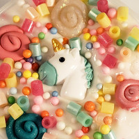 Unicorn Slime with Glitter  Cupcake Scented Slime with Charms