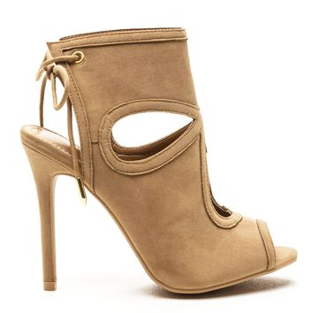 GRETCHEN TEAR DROP BOOTIES - NUDE