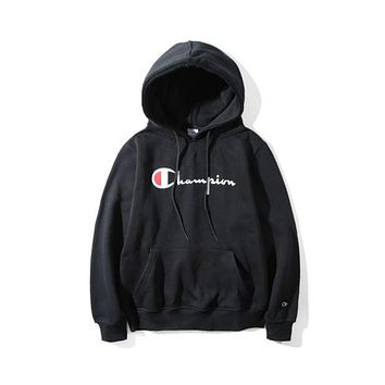 Champion Tide brand sketch classic print hooded pullover sweater