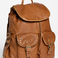 T-Shirt & Jeans Woven Pocket Faux Leather Backpack | Nordstrom