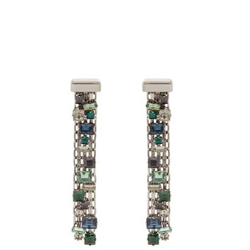 Crystal-drop clip on earrings | Lanvin | MATCHESFASHION.COM UK