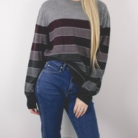 Vintage 90s Striped Knit Sweater