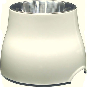 Elevated 2 in 1 Dog Bowl White 300ml