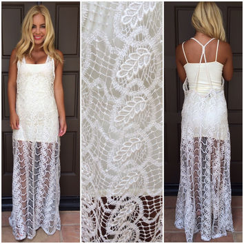 Valerian Crochet Lace Maxi Dress by SKY