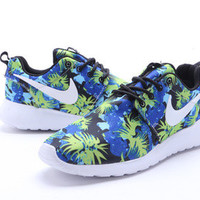 n070 - Nike Roshe Run (Floral Prints Olympics blue Flower )