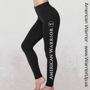 Yoga Pants - AmericanWarrior - Spandex - Black