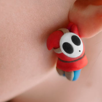 EEK! Shy Guy Earrings Mario