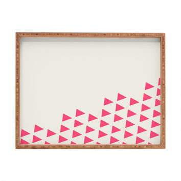 Allyson Johnson Pink Triangles Rectangular Tray