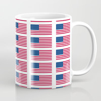 american flag 2-Usa,america,us,stars and strips, patriotic,patriot,united states,american,spangled Coffee Mug by oldking