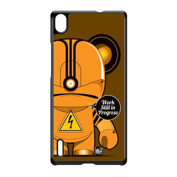 Workin' Dude Black Hard Plastic Case for Huawei P7 by Gangtoyz