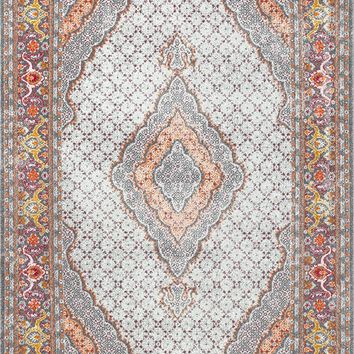 20037 Orange Medallion Persian Area Rugs