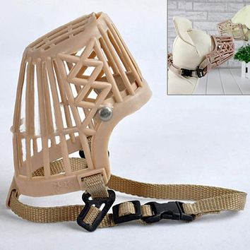 Plastic Dogs Muzzle Basket Design Anti-biting Adjustable Straps Mask Muzzles For Dogs Pet Supplies Dog Products
