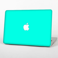 The Solid Mint V2 Skin Set for the Apple MacBook Laptop (Most Versions Available - Choose Coverage)