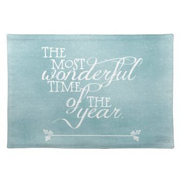 Blue Christmas Cloth Placemat
