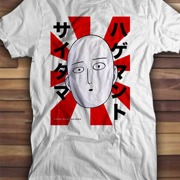 Caped Baldy Saitama One Punch Man T shirt, Printed Tshirts, Printed tees