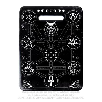 Alchemy Gothic Occult Magic Symbols Cutting Board Kitchen