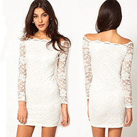 Sweet Lace Strapless Dress&Party Dress