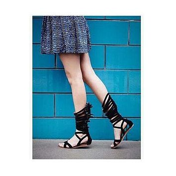 Straps Casual Adjustable Buckle Open Toe Flat Gladiator Sandals