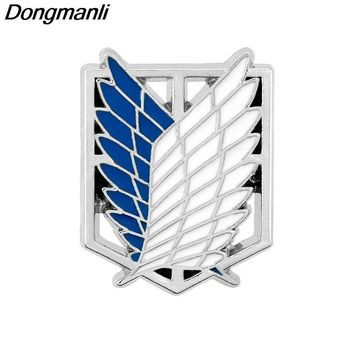 Cool Attack on Titan P2354 Dongmanli Fashion Japan Anime Jewelry  Pins Brooch Legions Badge Lapel Pin Brooches For Fans Collection AT_90_11