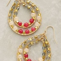 Moray Hoops by Anthropologie in Red Motif Size: One Size Earrings