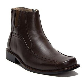 New Men's 38912 Leather Lined Ankle High Zipped Boots