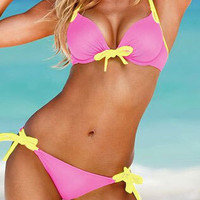 Sexy Bikini Set for Summer 2016 Two Piece Single Color