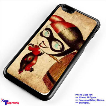Cute Joker and Harley Quinn couple 1 - Personalized iPhone 7 Case, iPhone 6/6S Plus, 5 5S SE, 7S Plus, Samsung Galaxy S5 S6 S7 S8 Case, and Other