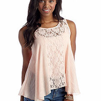 Living Doll Lace Detail Swing Tank - Belk.com